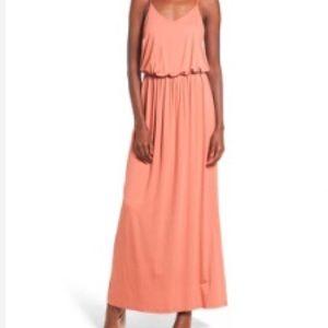 "Nordstrom LUSH Knit Maxi, ""Coral Cedar"""